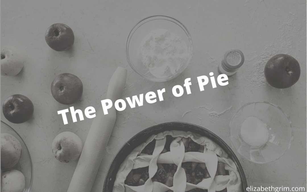 Picture of pie with the blog title: The Power of Pie.