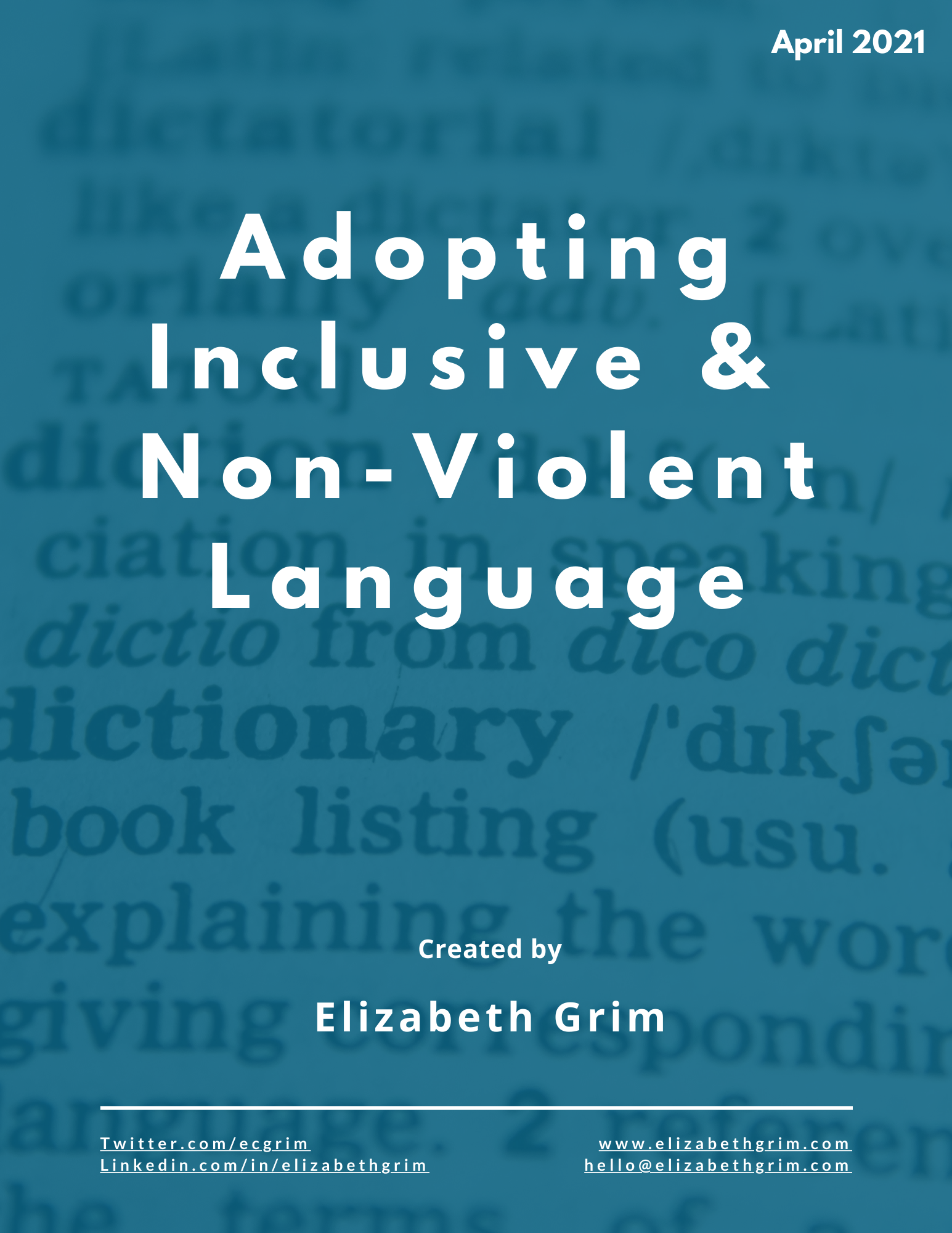 Adopting inclusive and non-violent language handout